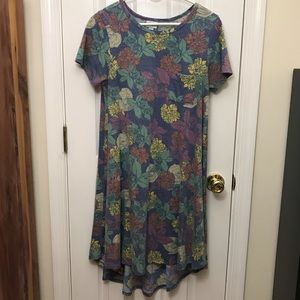 Lularoe Carly Dress High Low Hem Floral Small